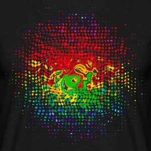 Colour Dots, Party, Festival, Splash, Retro, Swirl - Männer T-Shirt