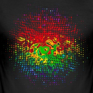 Colour Dots, Party, Festival, Splash, Retro, Swirl T-shirts - slim fit T-shirt