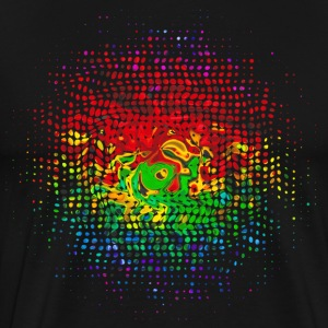 Colour Dots, Party, Festival, Splash, Retro, Swirl T-skjorter - Premium T-skjorte for menn