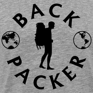Backpacker World T-shirts - Herre premium T-shirt