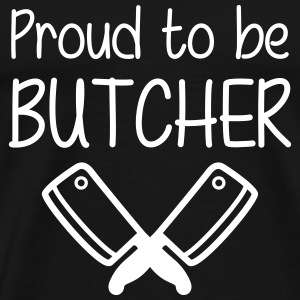 Proud to be Butcher T-skjorter - Premium T-skjorte for menn
