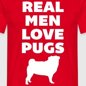 Real Men Love Pugs T-shirts - Herre-T-shirt