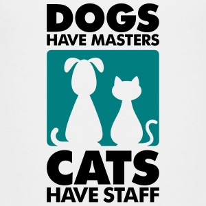 Dogs have masters and cats have staff Shirts - Teenage Premium T-Shirt