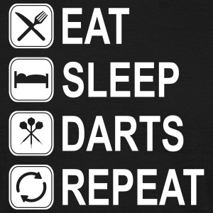 eat sleep darts repeat - Männer T-Shirt