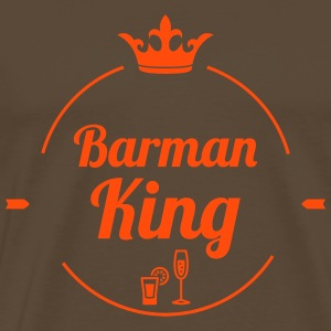 Barman King T-shirts - Mannen Premium T-shirt