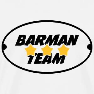 Barman Team T-shirts - Mannen Premium T-shirt
