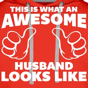 Awesome Husband Looks Like Pullover & Hoodies - Männer Premium Hoodie