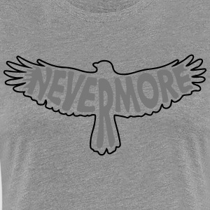 Nevermore Outline 2C T-Shirts - Women's Premium T-Shirt