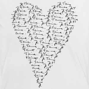 Je t`aime! Coeur, Toujours Amour, St. Valentin,  Camisetas - Camiseta contraste mujer
