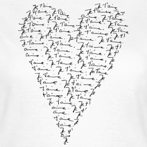 Je t`aime! Heart, Forever Love, Valentine's Day,   - Frauen T-Shirt