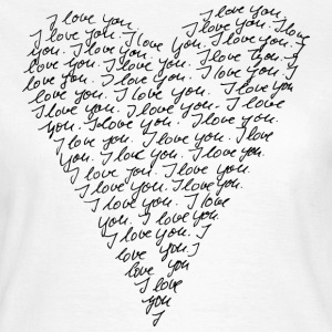 I love you! Heart, Forever, Infinity, Valentine's Day,  T-skjorter - T-skjorte for kvinner