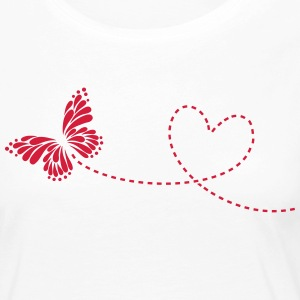 Butterfly, Heart, Love, Spring, Valentine's Day,  Manches longues - T-shirt manches longues Premium Femme