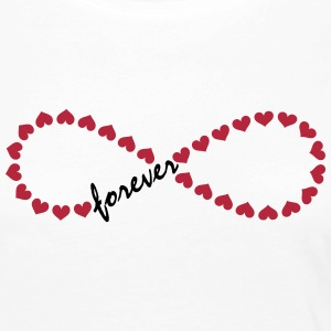 Forever Love! Infinity, Heart, Valentine's Day,  Manches longues - T-shirt manches longues Premium Femme