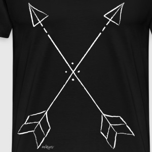 arrows white T-Shirts - Männer Premium T-Shirt