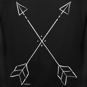 arrows white Tank Tops - Männer Premium Tank Top