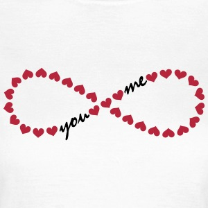 You and me! Forever Love, Heart, Valentine's Day,  T-shirts - Dame-T-shirt
