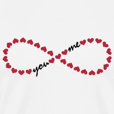 You and me! Forever Love, Heart, Valentine's Day,  T-Shirts