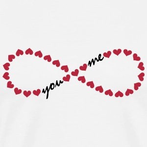 You and me! Forever Love, Heart, Valentine's Day,  T-shirts - Herre premium T-shirt
