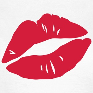 Kissing Lips, Valentines Day, Love, Kiss, Mouth T-shirts - Dame-T-shirt