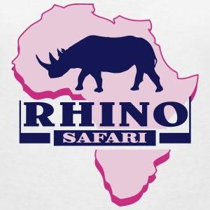 Rhino - Rhinoceros - Africa T-Shirts - Women's V-Neck T-Shirt