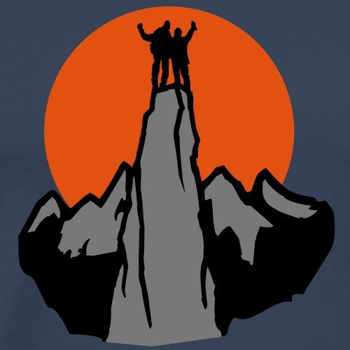 Bergsteiger im Sonnenuntergang