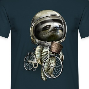 Marineblå WITH MY BIKE ALONG T-shirts - Herre-T-shirt