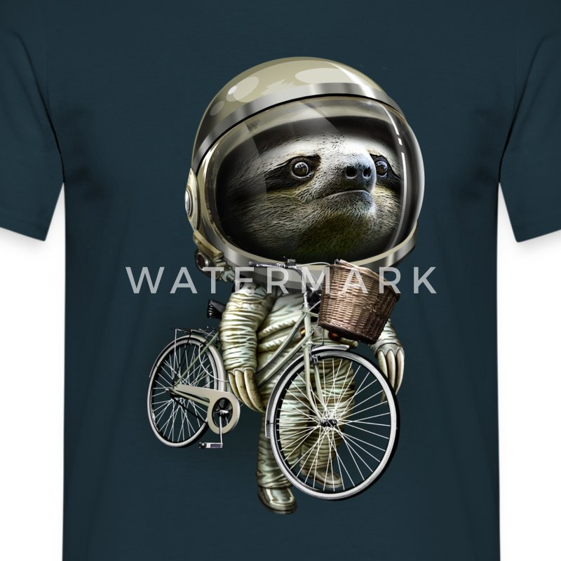 WITH MY BICYCLE - Men's T-Shirt