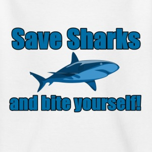 Save Sharks and bite yourself! - Kids' T-Shirt