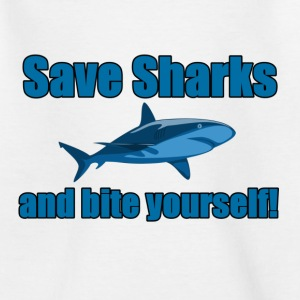 Save Sharks and bite yourself! - Teenage T-shirt