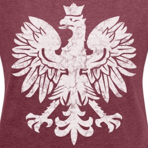 Polish Flag Eagle T-Shirts - Women's T-shirt with rolled up sleeves