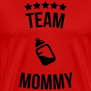 Team Mama Mummy moedermelk fles T-shirts - Mannen Premium T-shirt