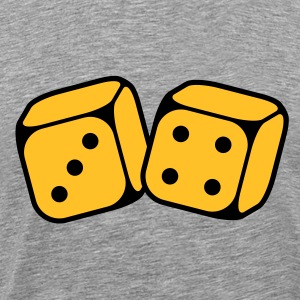 Dices With Number 3 and 4 (2C) T-Shirts - Men's Premium T-Shirt