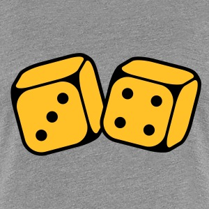 Dices With Number 3 and 4 (2C) T-Shirts - Women's Premium T-Shirt
