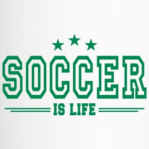 soccer is life 2 Bouteilles et Tasses - Mug thermos