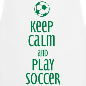 keep calm and play soccer Fartuchy - Fartuch kuchenny