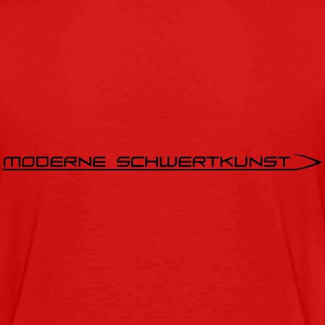 Teenager Premium T-Shirt mit Schwertkunst-Schriftzug