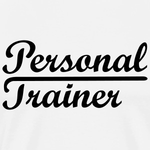 Personal trainer * logo icône Coach Fitness Sport - T-shirt Premium Homme