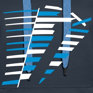 Stripes grunge conception graphique Sweat-shirts - Sweat-shirt à capuche Premium pour femmes