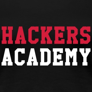 Hackers Academy T-shirts - Dame premium T-shirt