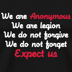 Anonymous T-skjorter - Premium T-skjorte for menn