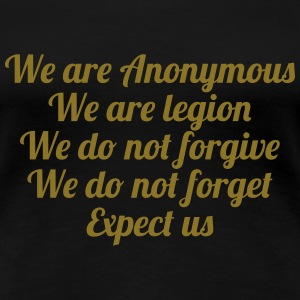 Anonymous T-shirts - Dame premium T-shirt