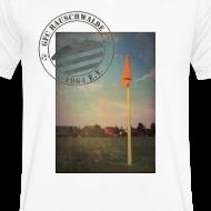Motiv ~ Männer Sportplatz  - V-Shirt Weiß