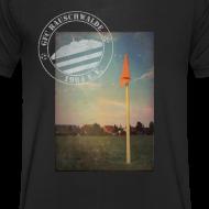 Motiv ~ Männer Sportplatz  - V-Shirt Schwarz