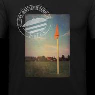Motiv ~ Männer Sportplatz  - Shirt SLIM Schwarz