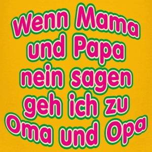 Mama Papa Oma Opa frech Kind Großeltern T-Shirts - Kinder Premium T-Shirt