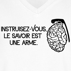 Le savoir est une arme - knowledge is a weapon Magliette - Maglietta da uomo con scollo a V