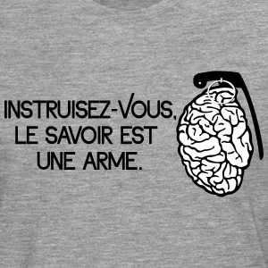Le savoir est une arme - knowledge is a weapon Skjorter med lange armer - Premium langermet T-skjorte for menn
