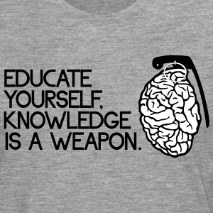 knowledge is a weapon Maglie a manica lunga - Maglietta Premium a manica lunga da uomo