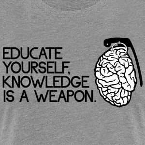 knowledge is a weapon T-Shirts - Women's Premium T-Shirt