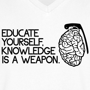 knowledge is a weapon T-Shirts - Men's V-Neck T-Shirt